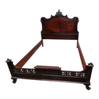 Chinese Chippendale Style Bed For Sale