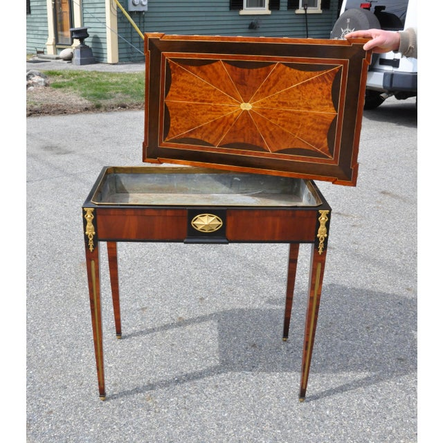 Metal Early 19th Century Russian Neoclassical Table With Planter Insert For Sale - Image 7 of 8