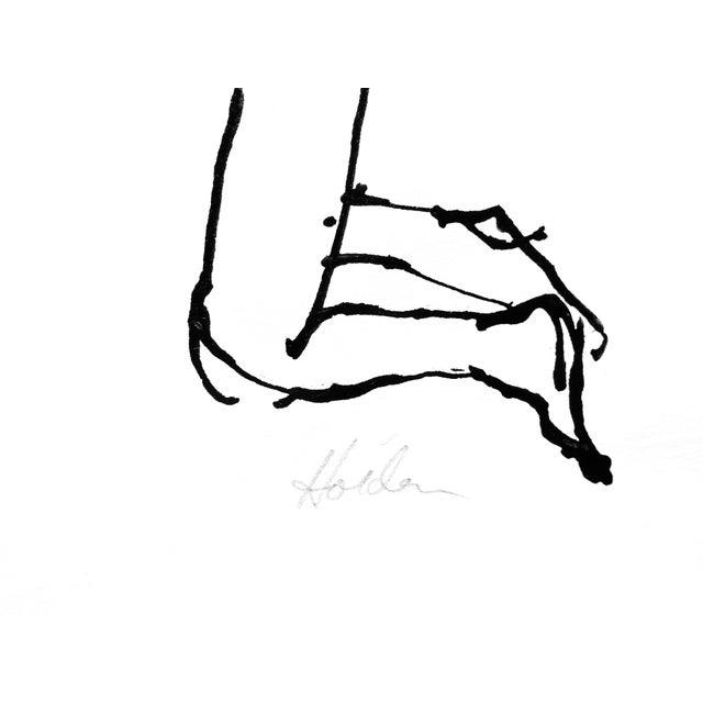 Downward Dog Yoga Pose Ink Drawing - Image 3 of 4