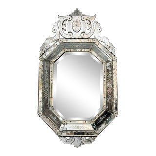 Octagonal 20th Century Venetian Mirror For Sale