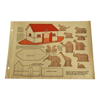 1930 Art Deco Noah's Ark Character Culture Citizenship Guides Print For Sale