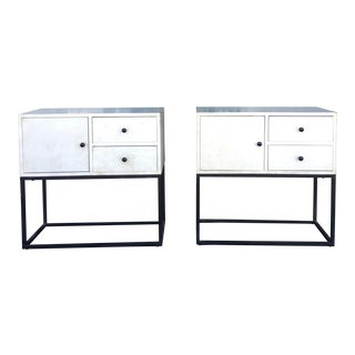 Vintage White Cabinets - A Pair For Sale
