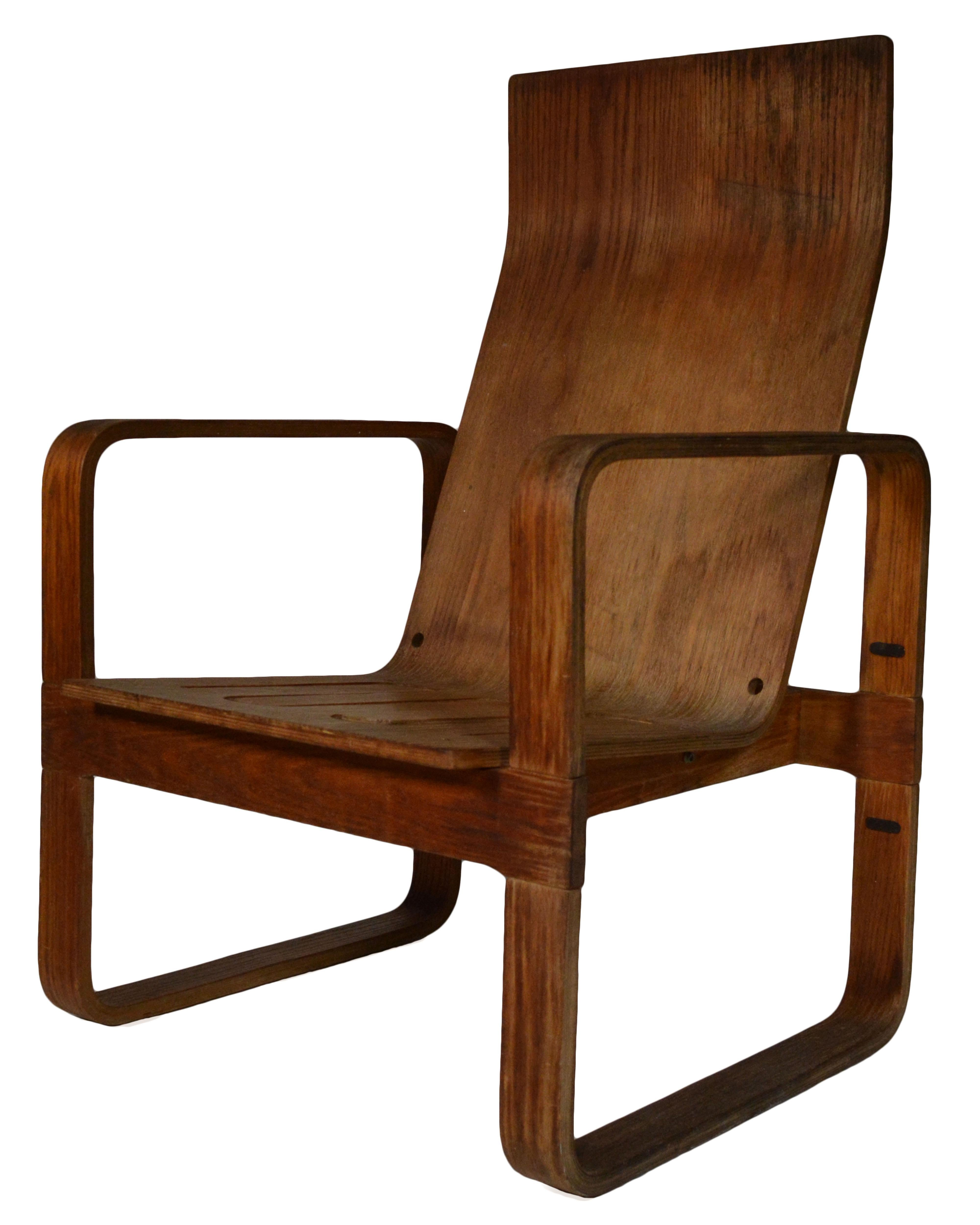 Thonet Bent Plywood Chair   Image 4 Of 4
