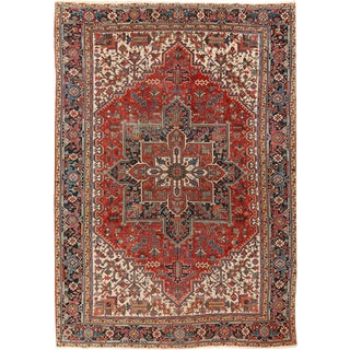 "Wintage Persian Heriz Hand Woven Rug 8'2"" X 11'6"" For Sale"