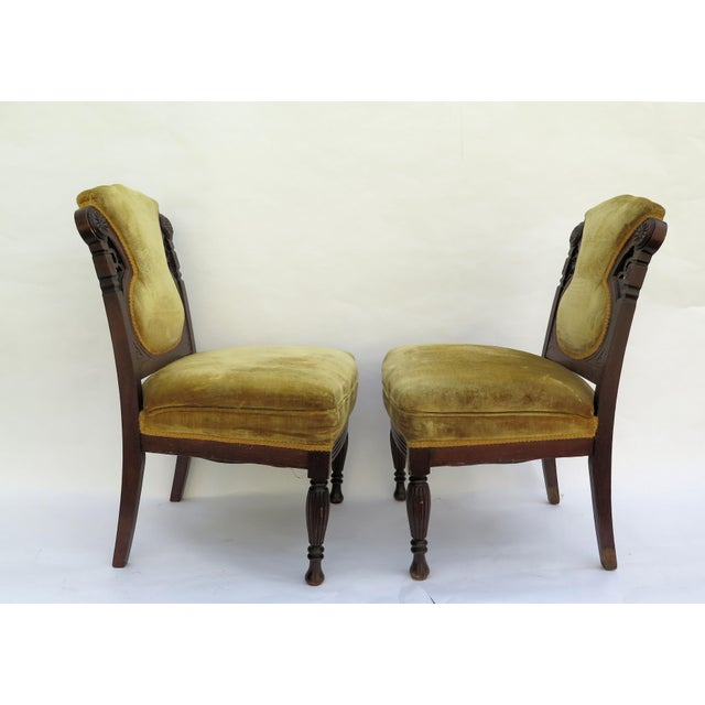 19th Century French Side Chairs - A Pair - Image 3 of 5