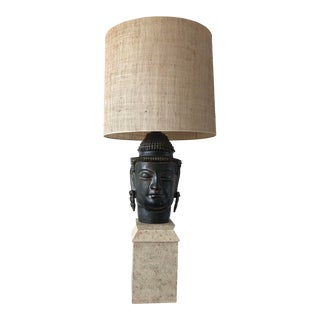 1980s Vintage Frederick Cooper Buddha Lamp For Sale