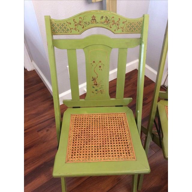 Wood Vintage Ferguson Felt Card Table & Chairs For Sale - Image 7 of 8