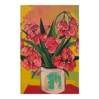 Festive Oleander Acrylic Painting