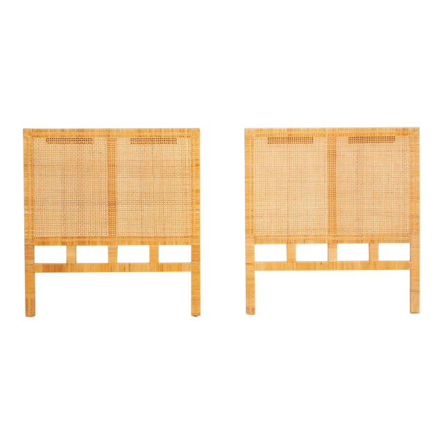 Single Woven Cane Twin Headboard by Danny Ho Fong for Tropi-Cal For Sale