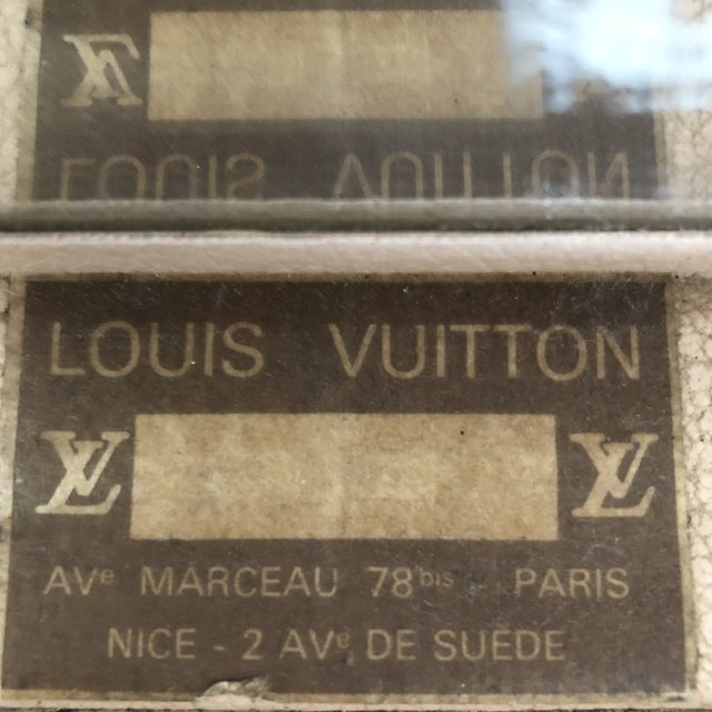 Brown 1980s French Louis Vuitton Canvas and Leather Train Case For Sale - Image 8 of 12