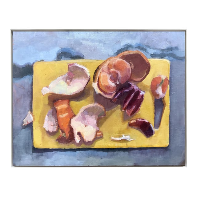 """2010s """"Cutting Board Ii"""" Original Citrus Fruit Oil Painting For Sale - Image 5 of 5"""