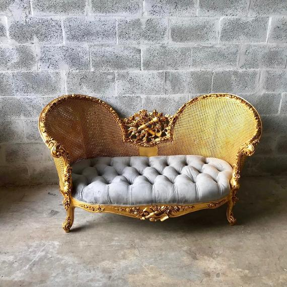 Modern French Louis XV Style Marquise Sofa For Sale In Miami - Image 6 of 7