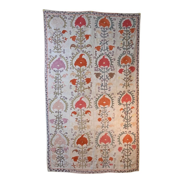 Antique Suzani Panel Wall Hanging For Sale