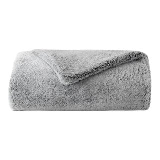 Faux Fur Throw, Grey For Sale