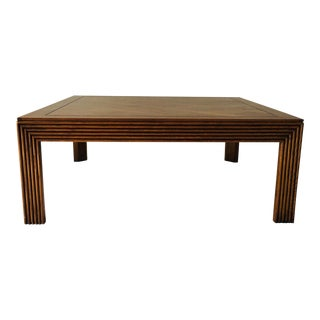 Vintage Lane Walnut Coffee Table Msm Design C. 1980's 38 X 38 X 15 Excellent For Sale