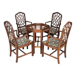 Vintage Fretwork Dining Set For Sale