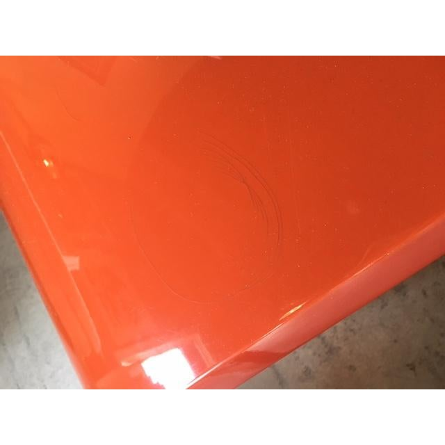 Modern Orange Lacquered Tables - Set of 3 - Image 10 of 10