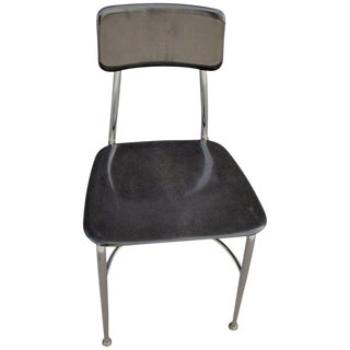 Midcentury Heywood-Wakefield Woodite Black School Chair; 40 Chairs Available For Sale