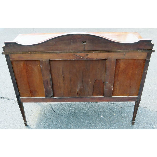 Brown English Attr. Edwards and Roberts Inlaid Server For Sale - Image 8 of 11