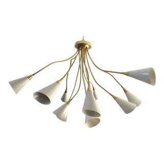 Arteluce Style Flush Mount Chandelier For Sale