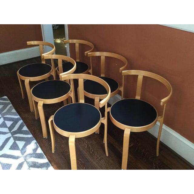 Rud Thygesen and Johnny Sorensen Vintage Rud Thygesen & Johhny Sørensen Model 802 Chairs - Set of 6 For Sale - Image 4 of 8
