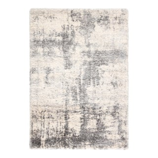 """Jaipur Living Serenade Abstract Ivory Light Gray Area Rug 7'6""""X9'6"""" For Sale"""