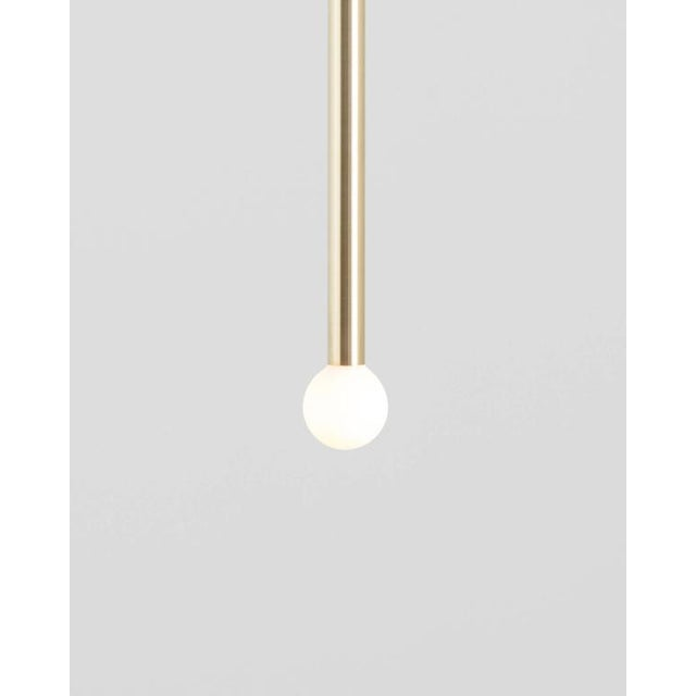 Current Contemporary Strike Matte Black Modern Painted Brass Pendant Light For Sale - Image 4 of 7
