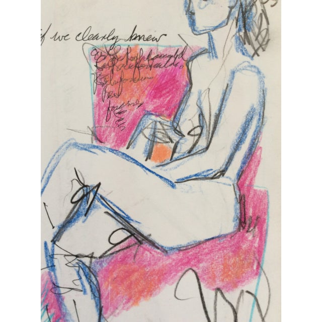 Contemporary If We Clearly Knew Female Nude Drawing by James Bone 1990 For Sale - Image 3 of 4
