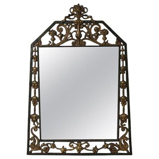 1920s Vintage Oscar Bach Arts & Crafts Parlour Mirror For Sale