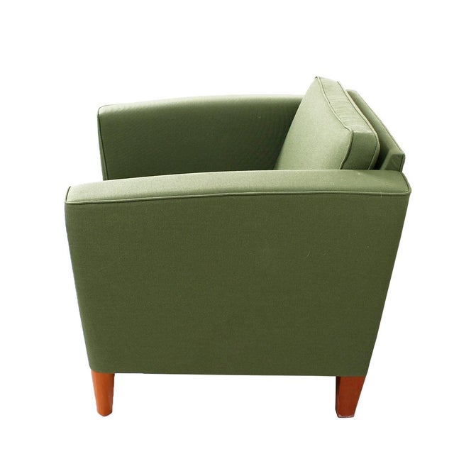 Green Danish Modern Lounge Chairs - A Pair - Image 4 of 5