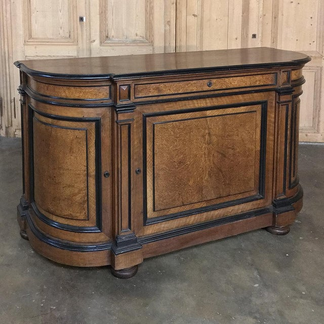 Early 19th Century 19th Century French Napoleon III Period Walnut Buffet For Sale - Image 5 of 13