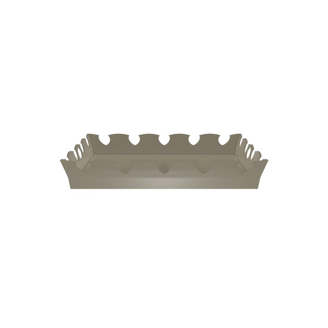 Oomph Ocean Drive Outdoor Tray, Taupe For Sale In New York - Image 6 of 7
