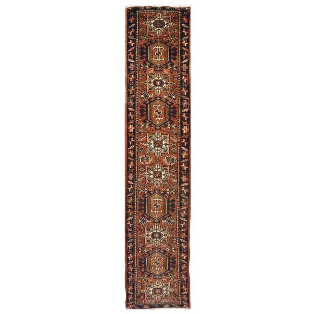 Vintage Persian Karaje Runner - 2.1 x 12.7 For Sale