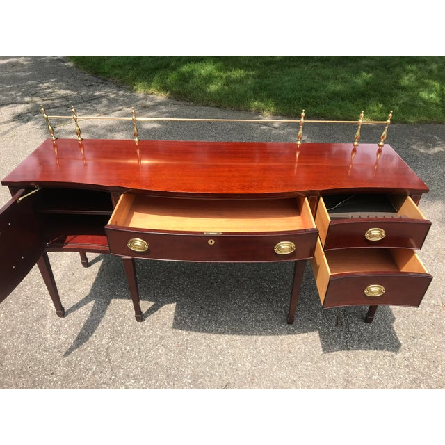 Brown Traditional Cherry Side Board by Kindel For Sale - Image 8 of 11