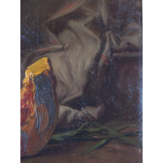 Gold 19th Century French Still Life Painting by Edouard Cabane For Sale - Image 8 of 9