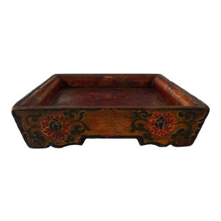 Wooden Vintage Tibetan Tray For Sale