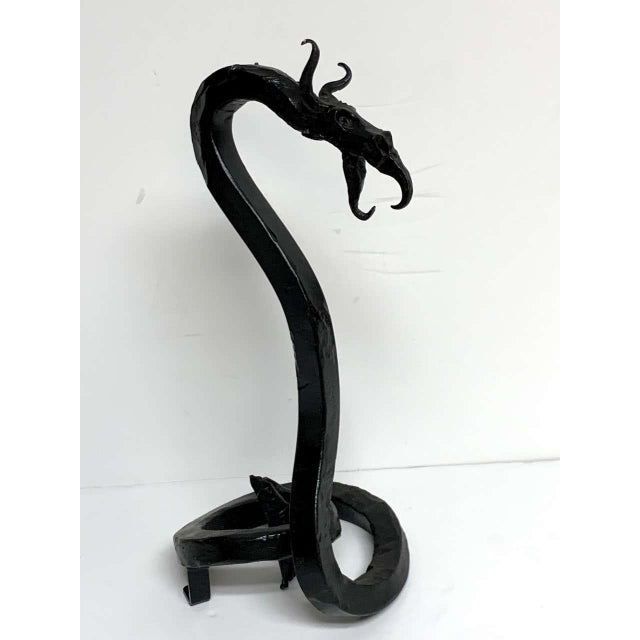 Antique English Wrought Iron Dragon Motif Pocket Watch Holder For Sale - Image 11 of 12