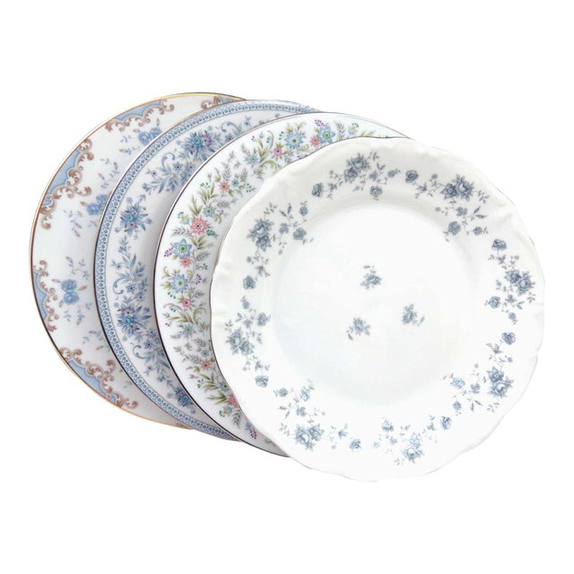 Vintage Mismatched Fine China Dinner Plates - Set of 4 - Image 1 of 8