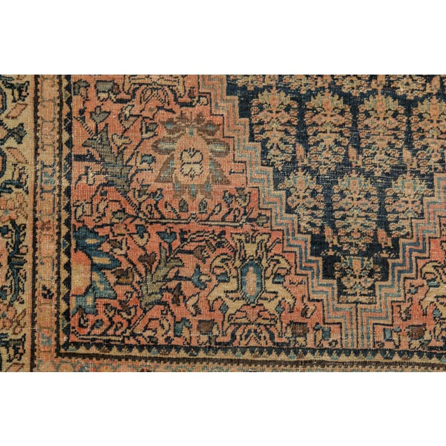 """Late 19th Century Antique Farahan Sarouk Rug - 3'3"""" X 4'8"""" For Sale - Image 5 of 13"""