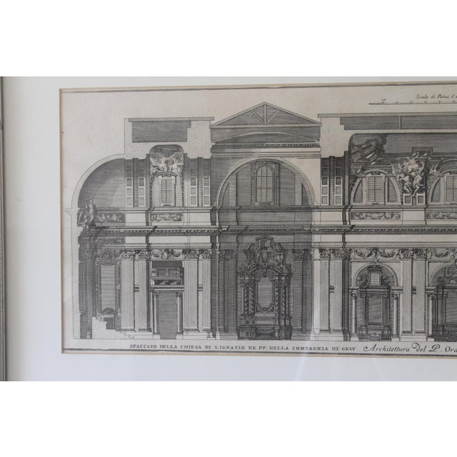 Traditional Early 19th Century Antique Spaccato De La Chiesa Architectural Print For Sale - Image 3 of 12