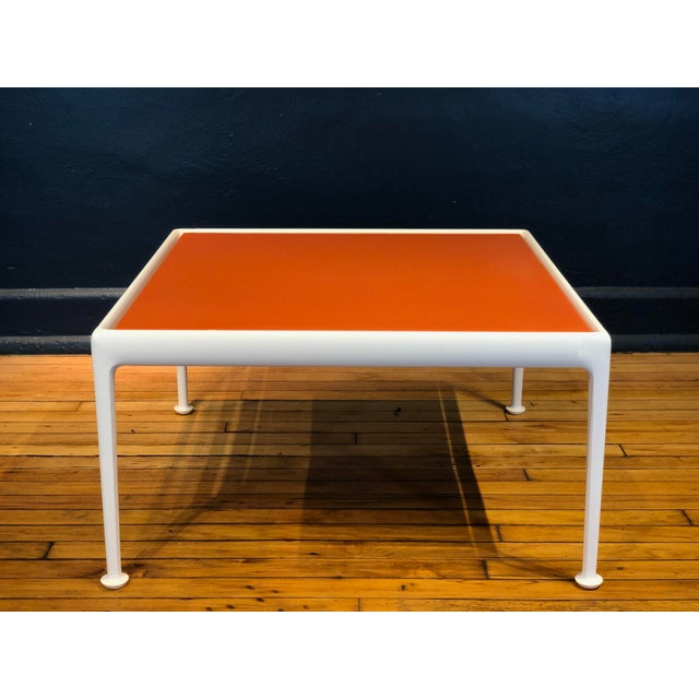 Metal Richard Schultz for Knoll Orange and White Enamel Top Side/Coffee Table For Sale - Image 7 of 12