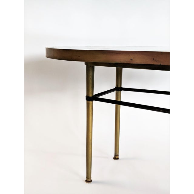 1957 Mid-Century Modern Inlaid Copper, Resin, Shell and Stone Coffee Table For Sale - Image 12 of 13