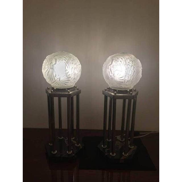 Muller Frères Signed French Art Deco Table Lamps - A Pair - Image 7 of 7