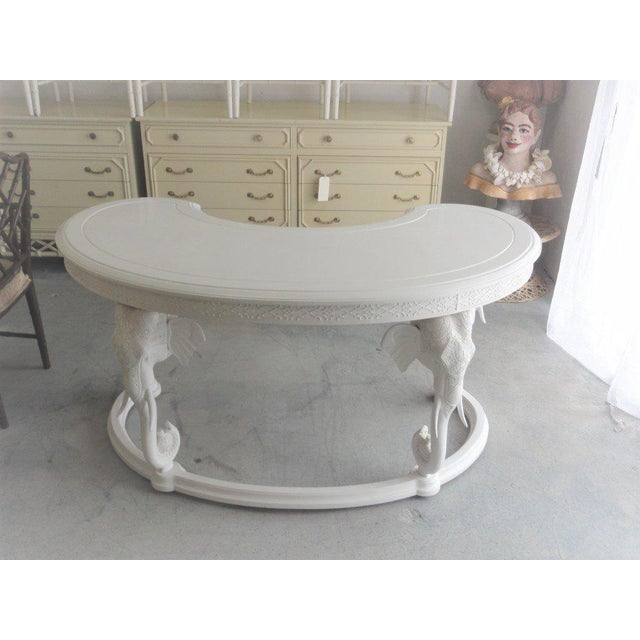 Gampel Stoll Fretwork Elephant Desk For Sale - Image 9 of 13