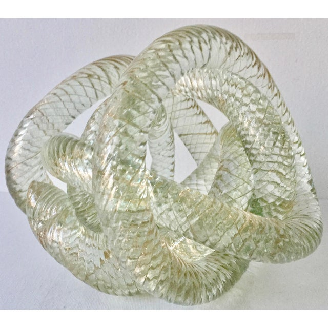 """1950s Large Murano Glass 8""""Twisted Knot Sculpture For Sale - Image 5 of 13"""