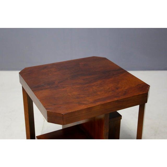 Wood Art Decò Walnut Coffe Table For Sale - Image 7 of 8