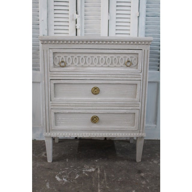 Mid 20th Century 20th Century Swedish Gustavian Style Nightstands - A Pair For Sale - Image 5 of 12