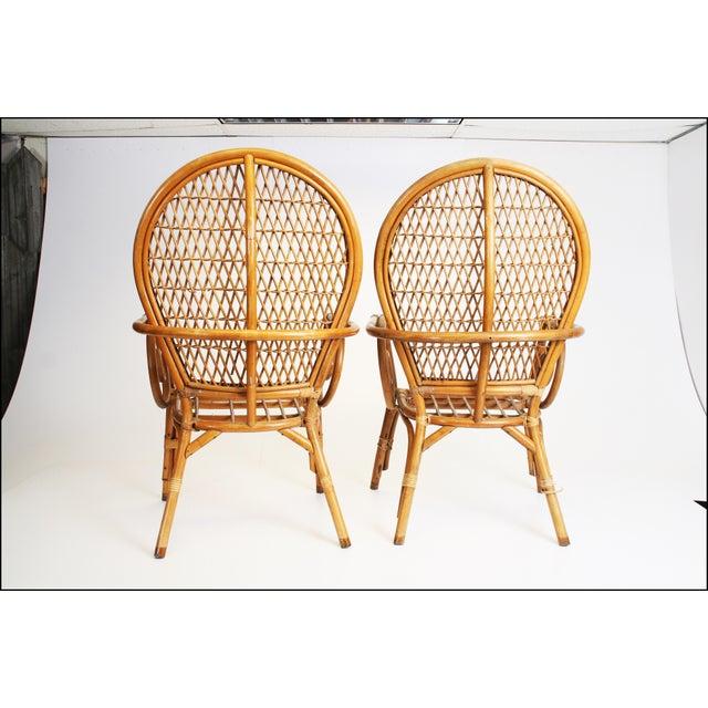 Vintage Bamboo Bentwood Chairs - A Pair For Sale - Image 11 of 11