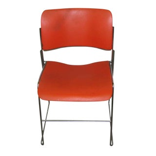 Retro Metal & Plastic Stacking Chairs - Set of 3