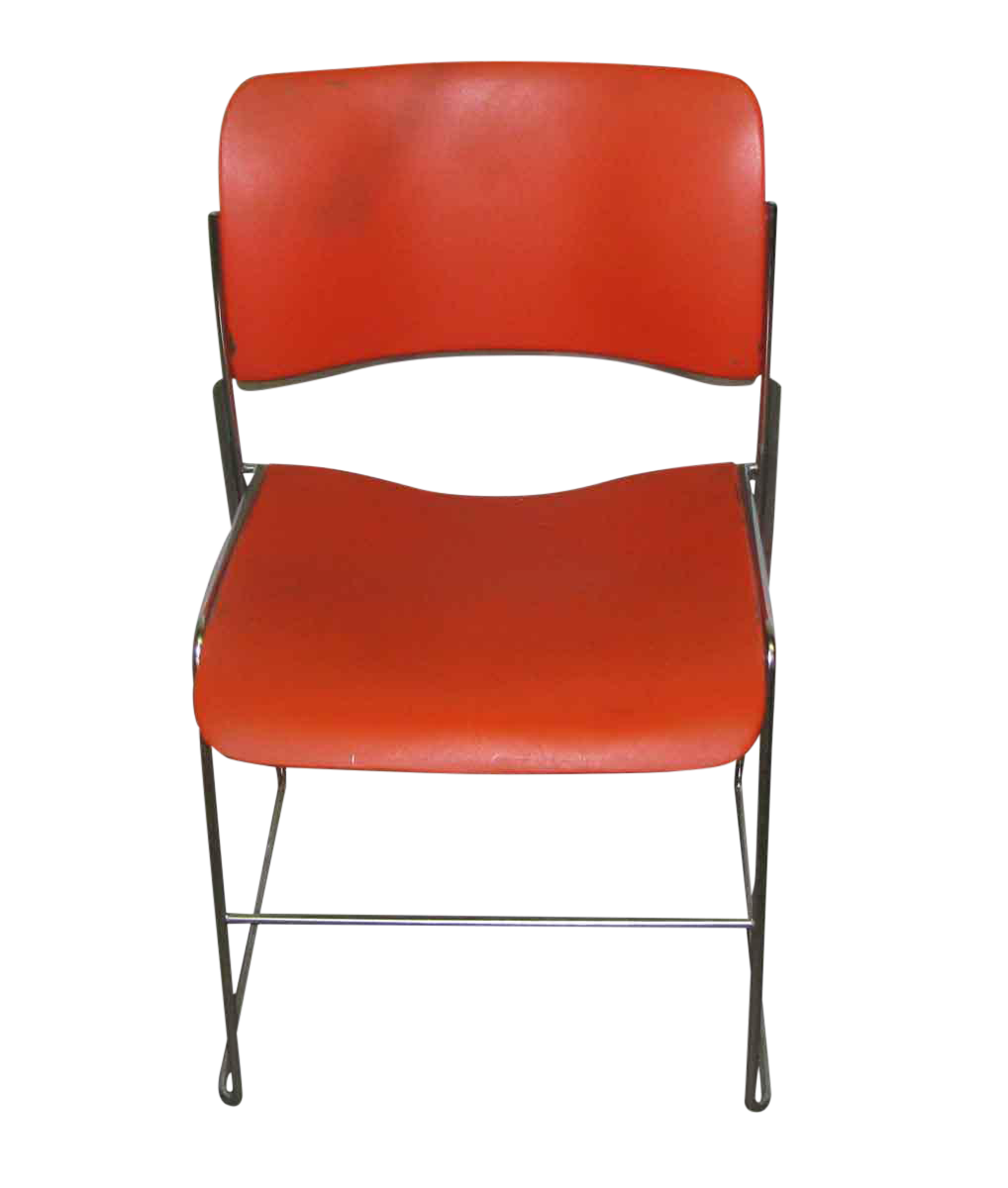 Retro Metal U0026 Plastic Stacking Chairs   Set Of 3
